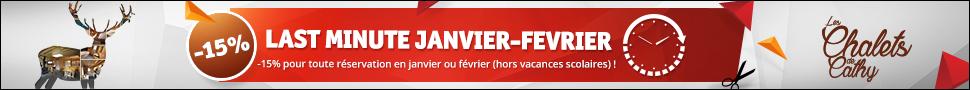 Promo Chalets Last Minute Janvier Fevrier